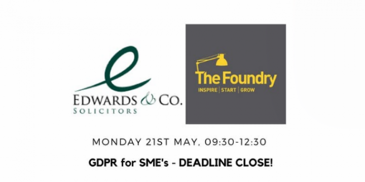 The Foundry presents: GDPR for SME's - helping you to comply